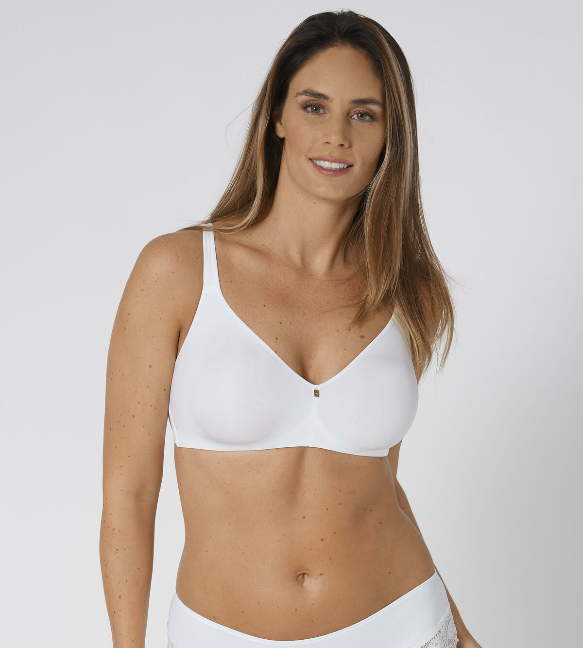 TRIUMPH Body Make-Up Essentials WHP con ferretto mezza coppa imbottito Reggiseno Bianco 40C CS